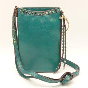 NWT HOBO Moxie Small Green Leather Crossbody